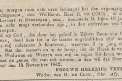 hendrik-de-cock-overliden-groninger-courant-18421115